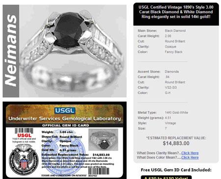 Jewelry Insurance Issues September 2007 beware eBay jewelry
