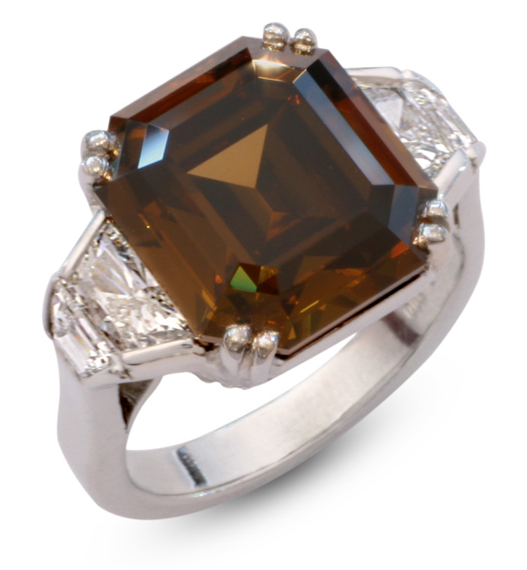 cluster products brown ring cut oval engagement diamond artemer