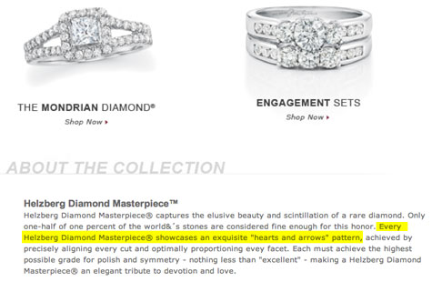 In The Helzberg Suit Plaintiff Argued That Her Princess Cut Diamond A Square Stone From Pany