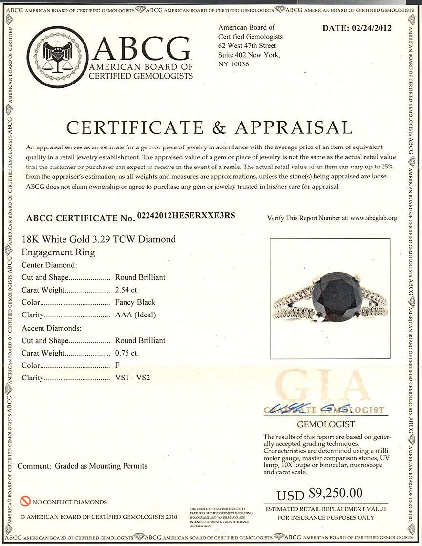 where to get jewelry appraised for free sle jewelry appraisal certificate style guru fashion 4711